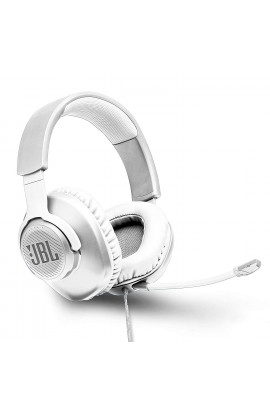 JBL Quantum 100 Wired Gaming Headset  (White, On the Ear)