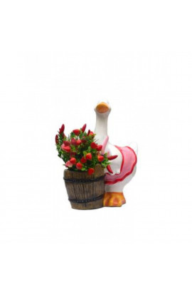 Baby Duck Holding Planter