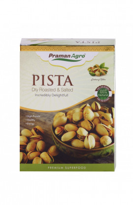 Pista Dry Roasted & Salted 200g Box (Pack of 4)
