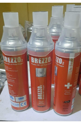 Brezz02 Oxy+Saans Portable Oxygen Can (12 Ltrs)