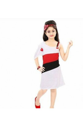 Girls White Frock Dress for Party Wear