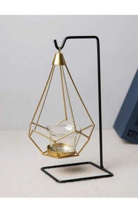 Steel Hanging Geometric Candle Holder (1 Piece)