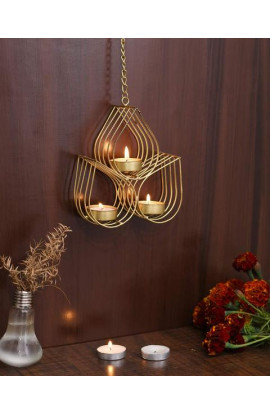 India Iron Wall Hanging Tealight Candle Holder Metal Wall Art Sconce For Home Decor Living Room & Gifts