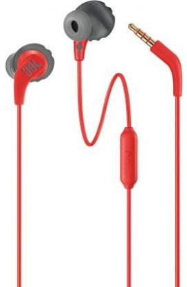 JBL Endurance Run Wired Headset  (Red, In the Ear)