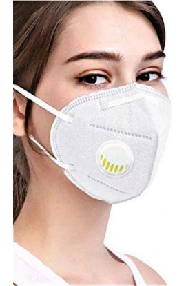 Kn95 High Filtration Capacity 5 Layer Medical Particulate Mask Anti Pollution Filter/Respirator Face Mask (Pack Of 2)