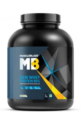 Muscle Blaze RAW Whey Protein 80% 2Kg (Unflavoured)