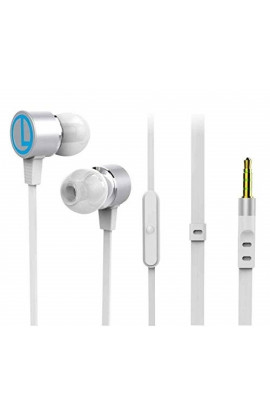 Portronics Conch 202 in-Ear Stereo Headphone (White)