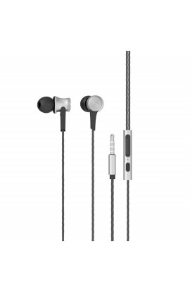 Portronics Conch 210 in-Ear Metal Body Stereo Bass Wired Earphone (Silver)