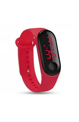Digital Led Watch Band Type Red Colour Mens & Womens Watch (40014)