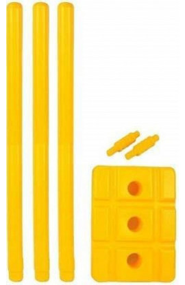 RK Nimbus Cricket Plastic Stumps with Stand and Bails