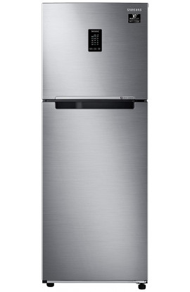 Samsung 314 L 2 Star Inverter Frost-Free Double Door Refrigerator (RT34T4632SLHL, Real Stainless, Convertible)