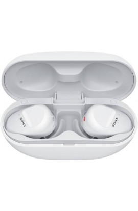 Sony WF-SP800N Truly Wireless Sports Noise Cancellation Extra Bass Bluetooth Earbuds/Headphones(White)
