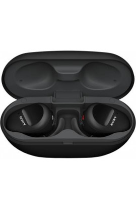 Sony WF-SP800N Truly Wireless Sports Noise Cancellation Extra Bass Bluetooth Earbuds/Headphones(Black)